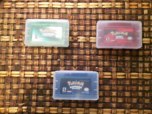 Pokemon Ruby Emerald and Sapphire GBA cart lot or individual