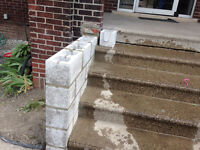 masonry brick blocks concrete foundation