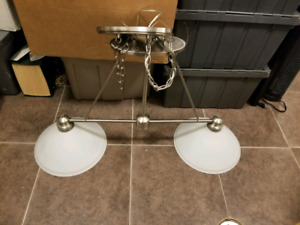 Dining or pool table chandelier light fixture