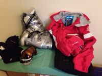 Ski Wear - Salomon Women's Ski Boots 7.5, Trespass Jacket, Nevisport Trousers, Goggles, Gloves