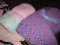 homemade crochet blanckets