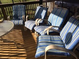 Metal Lawn Chairs with cushions