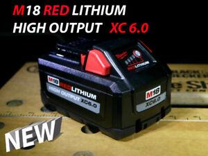 All New Milwaukee M18 High Output XC 6.0 RedLithium Battery