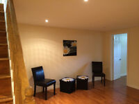 Available immediately 2 bedroom basement apartment