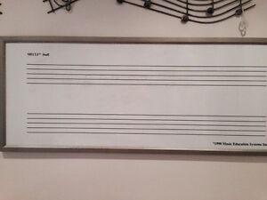 Music Staff White Board. Framed