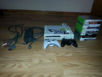 Xbox 360 with 2 controllers, etc