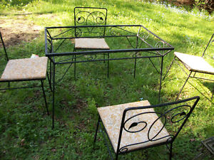 Patio Table and Chairs - Vintage Wrought Iron