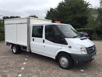 2008 Ford Transit 2.4 TDCi 350 LWB Crew cab Chassis Duratorq 4dr LEATHER, ELECTRIC PACK, NO VAT