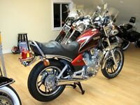 Heated motorcycle storage