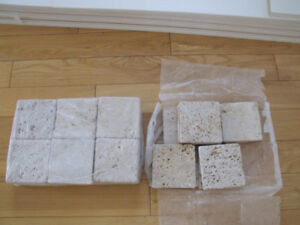 4x4 Natural Stone Travertine Tiles, and Xtras