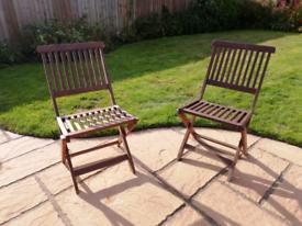 Garden Chairs x2