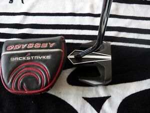 LH ODYSSEY BACKSTRYKE D.A.R.T PUTTER WITH MATCHING HEAD COVER 35