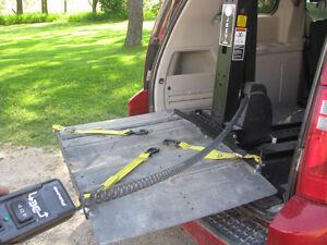 Wheelchair. lift for van