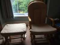 Hauck nursing chair and foot stool