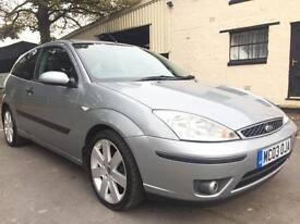 2003 03 Ford Focus 1.8TDCi (115) Sport 3 Door Met Machine Silver **ONE OWNER**