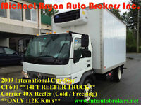 2009 INTERNATIONAL CF600 14FT REEFER TRUCK*ONLY 112K*GREAT PRICE