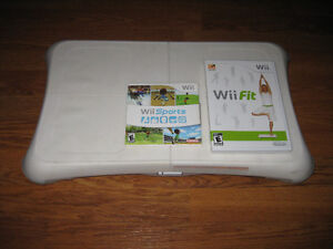 Nintendo Wii Fit Board and Wii Sports