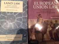 European Union law- texts and materials, land law book