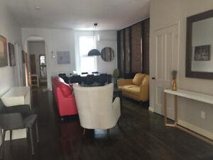 A louer magnifique appartement 3 chambres fermées meublé