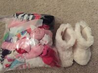 Girls Socks and a pair of slippers