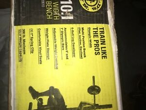 Golds Gym Bench Press With Leg Curls London Ontario image 3