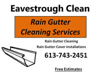 Rain Gutter Eavestrough Cleaning