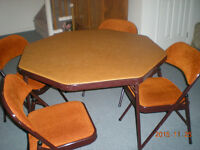 set of card table & chairs