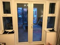 Upvc french doors and 2 x windows.