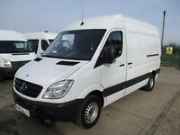 13 reg MERCEDES BENZ SPRINTER 313 CDI MWB WORKSHOP VAN WITH RACKING 68,000 MILES