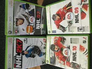 4 NHL Games for XBOX 360!