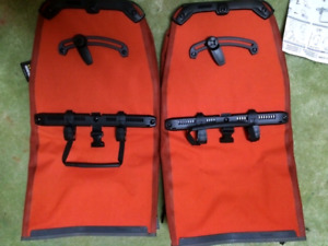 NEW Ortlieb Back-roller plus rear pannier set /pair (red)