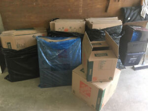 Home Depot Moving Boxes - 25 Medium, 30 Small