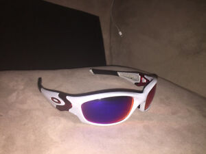 Oakley Straight Jacket Sunglasses White Chrome Positive 04-329