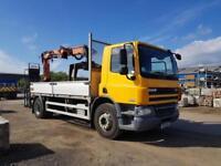 2010 Euro 5 DAF TRUCKS CF65.220 18 tonne dropside with Atlas Crane