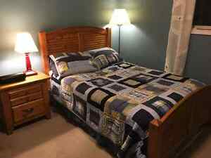 Double Bed and Matching Night Stand