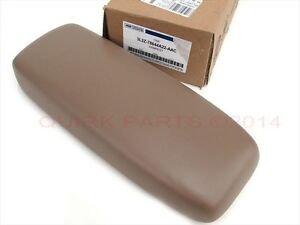 Ford Explorer Sport Trac Tan Center Console Armrest Pad & Cup Holder OEM NEW
