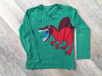 Boden boys long sleeve dinosaur top age 7-8