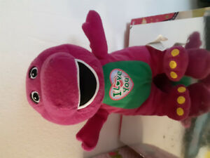 Barney. Soft toy , and DVD+Music CD set.