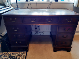 Lovely leather top desk