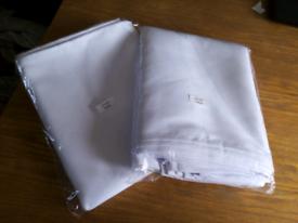 """20x white linen napkins 20"""" X 20"""""""