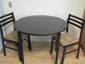 """Table de cuisine 36"""" pliante des 2 côtés"""
