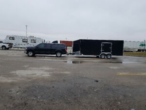 2018 stealth Mustang enclosed car trailer