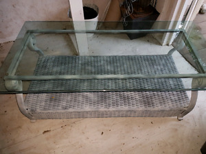 Coffee Table Durable Sturdy Glass Top