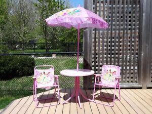 Princess Folding Chairs with Umbrella Canopy