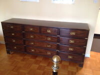 Solid wood Heritage Dresser and night tables