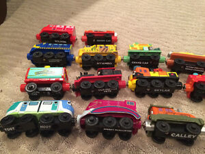 Original style wooden, magnetic joining Chuggington Trains London Ontario image 4