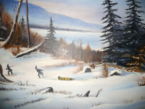 """Winter Trail"" Original Oil by S. Irsag Stratford Kitchener Area image 4"