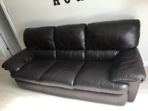 Natuzzi 3 seater couch and chair!