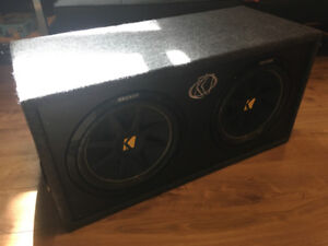 """Kicker Subs 2 x 12"""" with Kenwood Amp"""