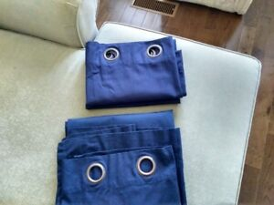 Dark Blue Curtains with grommets - 2 panels ($15 for 2 panels )